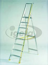 Haca-Stehleiter Alu Gr.10 Mehri Serie, 10 Stufen mit Ablage