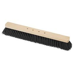 BECO Saalbesen RM 100cm Holzkörper roh, 4-Loch (10) Rosshaar-Qualitätsmischung
