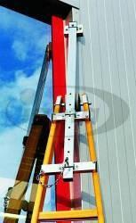 Haca-Leiterkopf Alu für Tourenleiter ausziehbar montiert