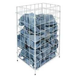 Racon m-waste Abfallkorb 54l Stand/Wandmodell faltbar weiß 300x640x225mm Metall