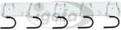 Haug Geräteleiste KU 450x50mm mit 5 verzinkten Haken (10)